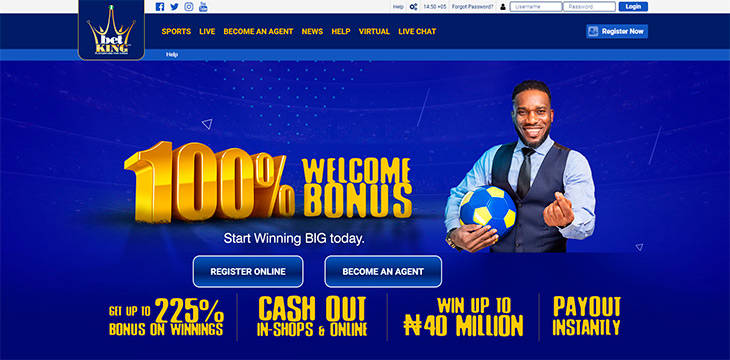 BetKing home page