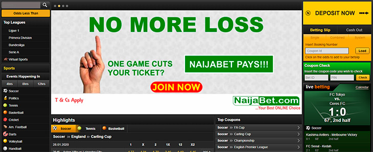 How to place a bet on NaijaBet?
